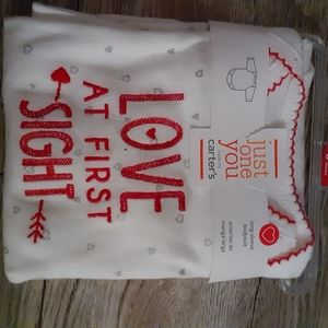 Nwt love at first sight onesis 6m long sleeve
